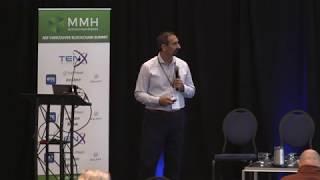 Nick Chandi from PayPie speaking at speaking at ADI Vancouver Blockchain Summit - Sept 2018