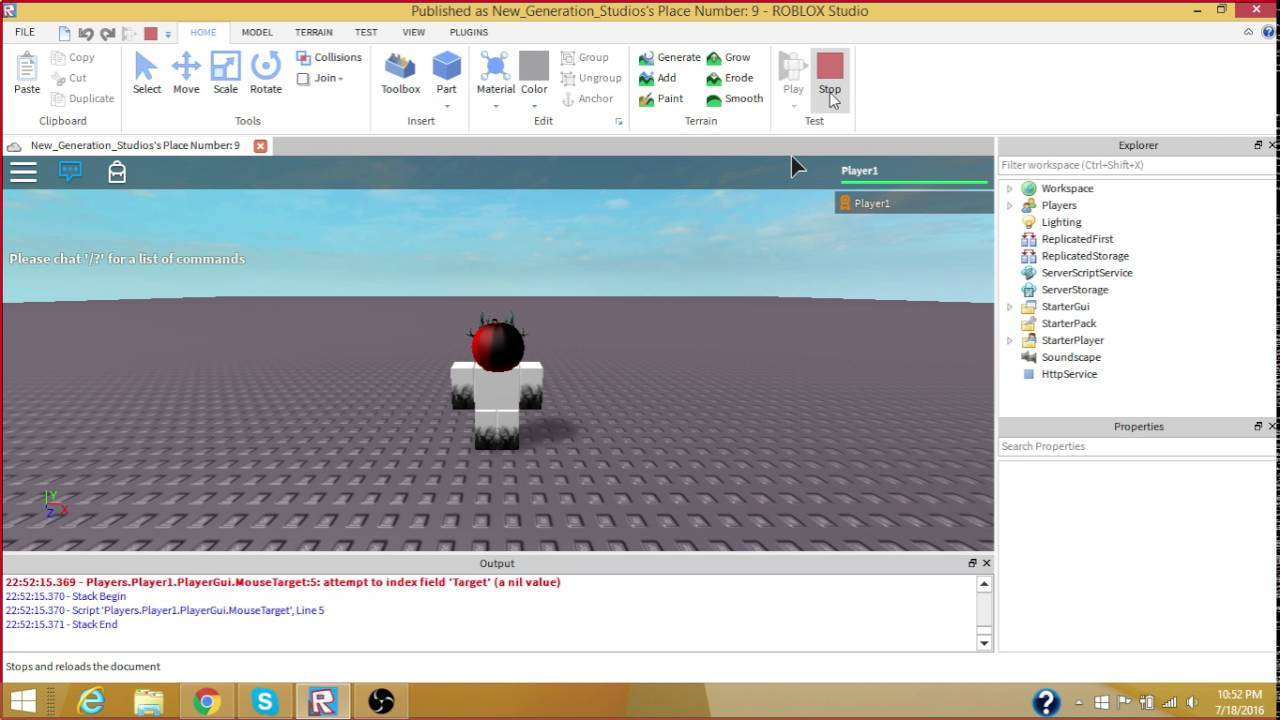 ROBLOX Scripting: Button1Down | Getting mouse and clicking with mouse