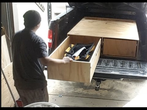 Pickup Truck Bed >> DIY Truck bed drawer - YouTube