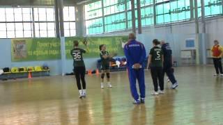 гандбол Тренировка Максимов-Трефилов передачи