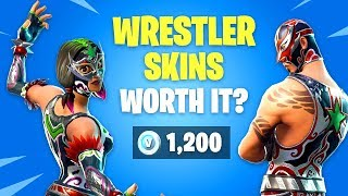 *NEW* Wrestler Skins Worth it? (Dynamo & Masked Fury) Fortnite Battle Royale Daily Items Update