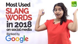 Most Used English Slang Words in 2018 on Social Media -  English Speaking Lesson by Ceema