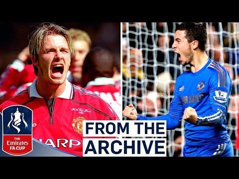 Manchester United v Chelsea   Beckham, Hazard or Drogba?!   Best FA Cup Goals