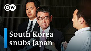 South Korea scraps pact with Japan, moves closer to US | DW News