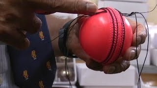 The Making Of New Pink Cricket Ball