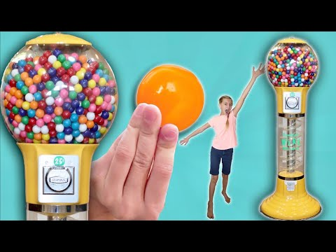 Double Bubble Giant Colorful GumBall Sweets Machine - How Savannah Got Money For Gumball Machine!  