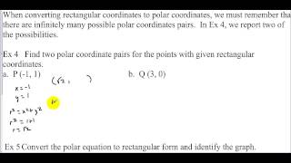 AP Calculus Section 11.3 Day 1 Polar Coordinate System