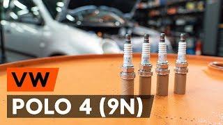 Kaip pakeisti Uždegimo žvakė VW POLO (9N_) - vaizdo vadovas