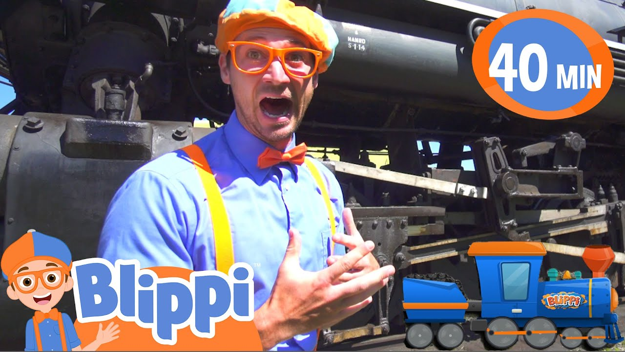 Learning Trains With Blippi At The Train Tracks | Train Videos For Children | Learning For Kids