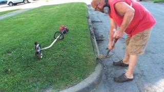 How to use a Trimmer Edger Attachment. John Deere edger Craftsman 8 n 1 Trimmer