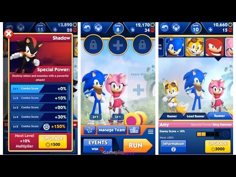 Sonic Dash 2 Sonic Boom - Shadow ^ Sticks ^ Tails ^ Sonic ^ Amy | I Love This Game