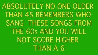 Pop Music Quiz - Who sang this song ?