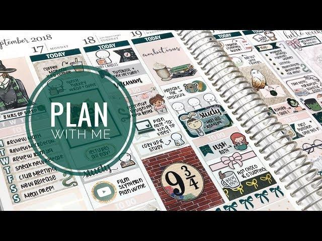 Plan With Me: Harry Potter Slytherin Week! ( + tiny vlog clip)