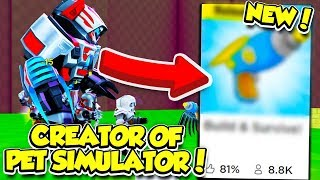 THIS *NEW* GAME WAS MADE BY THE PET SIMULATOR CREATORS!! (Roblox)