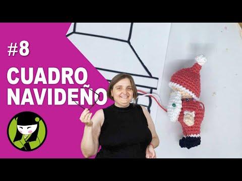 Brazos del papa noel pequeñito 8 forma parte el cuadro de navidad tejido a crochet