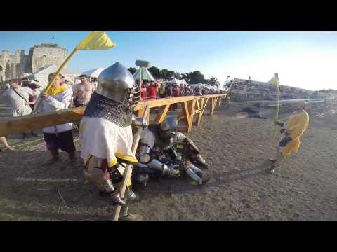 Buhurt Tech GoPro - Russian halberd(how it works) footage