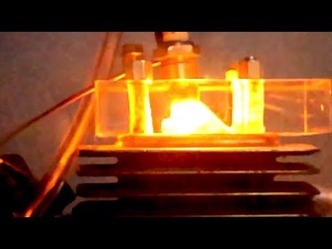 Acrylic Headstock - Plasma Ignition Test - 75cc 2Stroke Engine