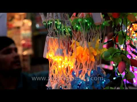 Lightplay in the festive season: Diwali shopping in Delhi