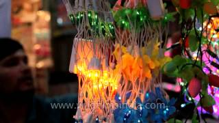 Lightplay in the festive season: Diwali shopping in Delhi