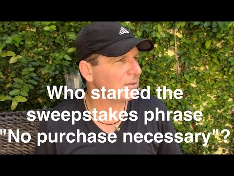 Q&A: Sweepstakes ... Why No Purchase Necessary?