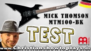 unboxing test review ibanez mtm100 bk mick thomson deutsch   christianshowtoplays