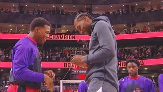 Kawhi Leonard Gets His Raptors Championship Ring In Toronto Return! Clippers vs Raptors