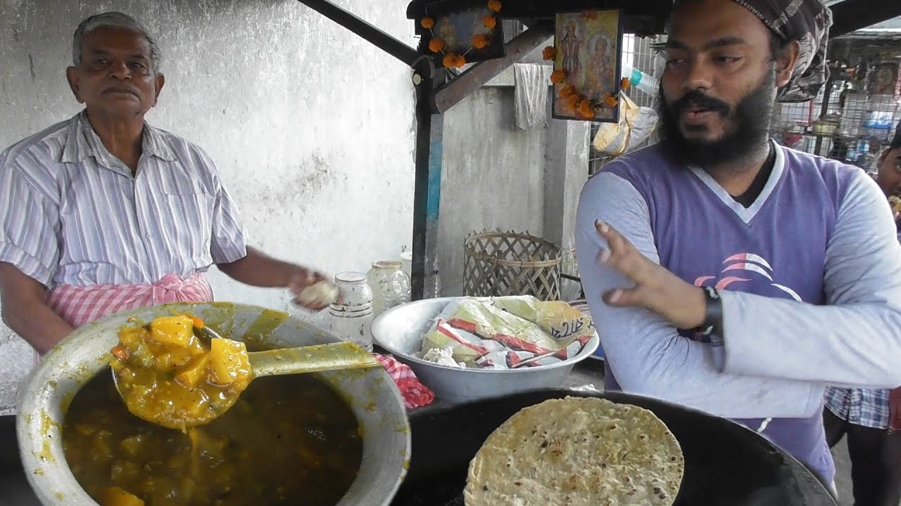 Most Hard Working Old Man - Working Since 1984 - Big Paratha @ 10 rs Only