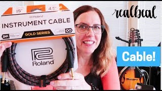 Roland Instrument Cable | Unboxing and Demo