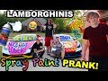 SPRAY PAINT THE SML LAMBORGHINIS PRANK!! (Almost Called the COPS)