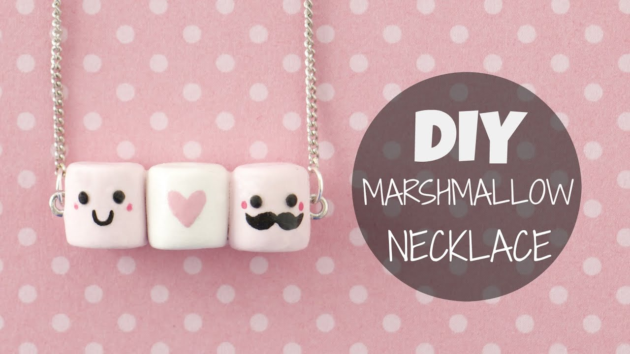 Diy Calendar Nim C : Diy cute easy marshmallow necklace youtube