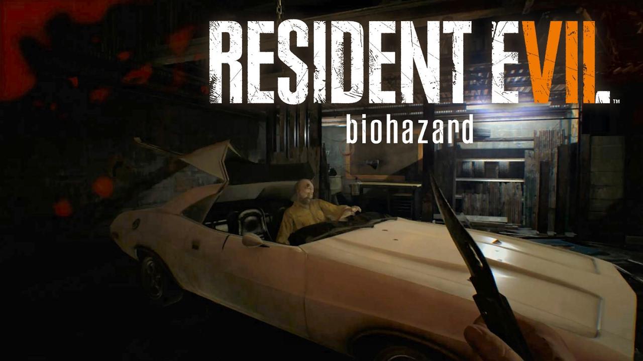 Resident Evil 7 Family Man Kills Ethan With Car Youtube