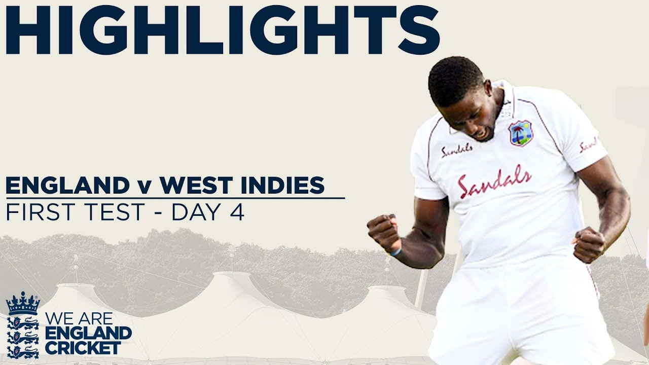 Download Day 4 Highlights   Late Wickets Set Up Enthralling Final Day!   England v West Indies 1st Test 2020