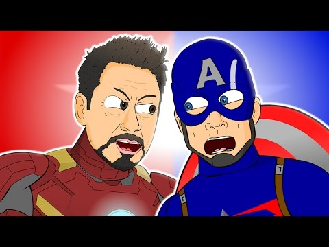 ♪ CAPTAIN AMERICA: CIVIL WAR THE MUSICAL  Animated Song Parody
