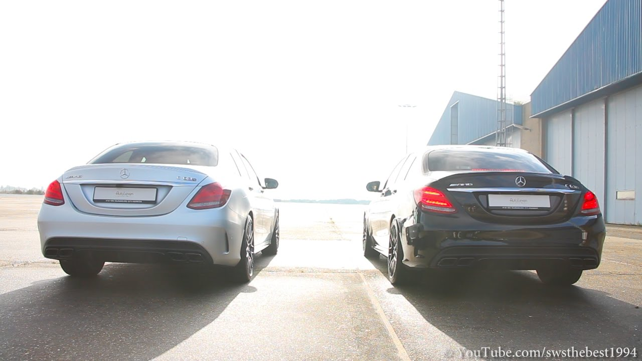 Mercedes-AMG C63 S - STOCK vs  AMG PERFORMANCE Exhaust!