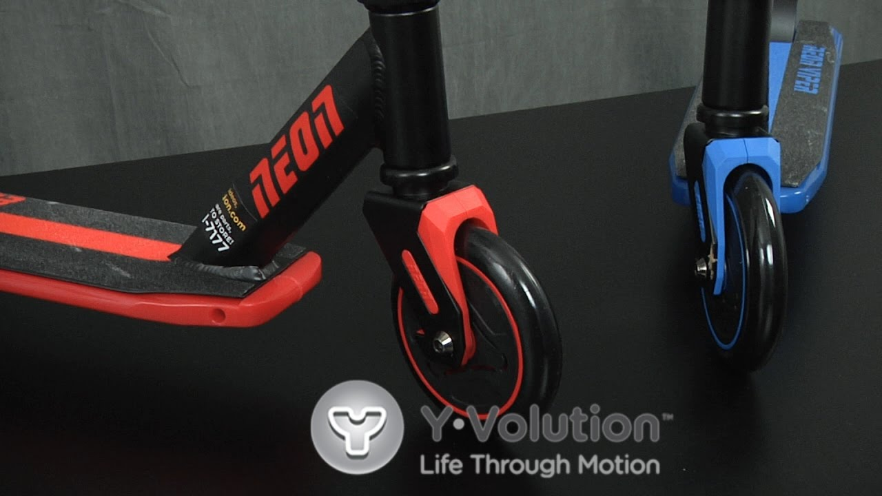 Foldable Light Up Scooter LED Kids Scooter One Size Blue Yvolution Neon Vector