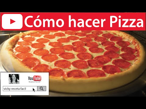Cómo hacer PIZZA | Vicky Receta Fácil