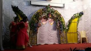 Supriya And Prasad Engagement bride and groom couple dance