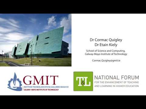 Using Feedback Forms for Students, Dr Cormac Quigley, GMIT