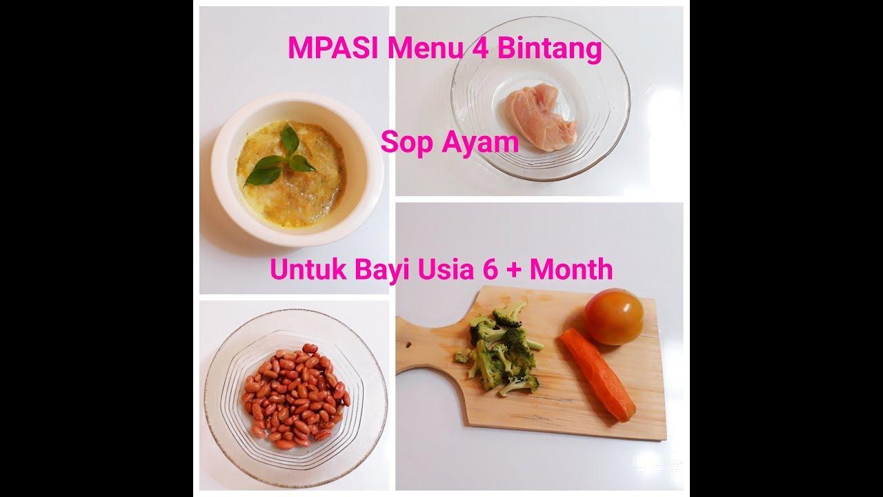 Resep Mpasi 6 Sampai 8 Bulan Keatas Sop Ayam Kacang Merah Wortel Tomat Brokoli Youtube