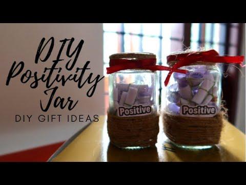 Diy Positivity Jar Happy Jar Gift Jar Ideas Easy Craft Gift Ideas Christmas Gift Ideas Youtube