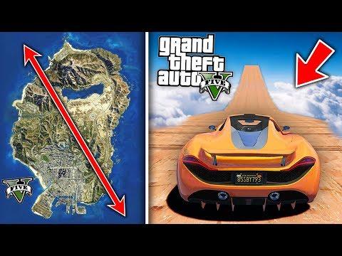 ¿Se Puede SALTAR y CRUZAR Todo el MAPA de GTA V? Grand Theft Auto 5 Misterios thumbnail