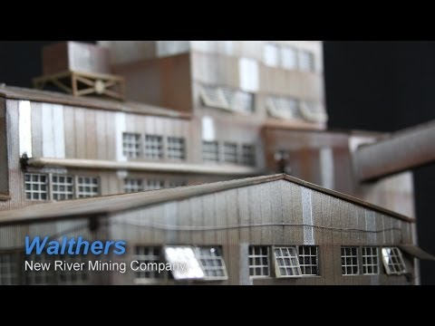 Model Railroad Building Walthers New River Mining Company, Weathering and more