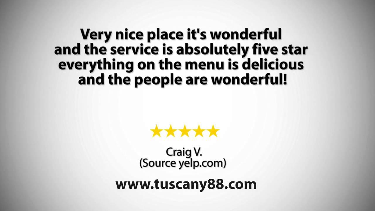 Tuscany Restaurant Bar Reviews Brick Nj Restaurants