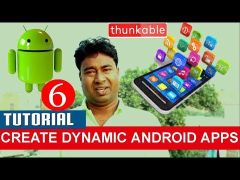 How to Create Dynamic Android applications using Thunkable ! Demo with basic concept