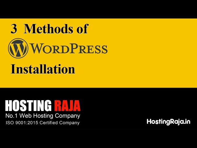 WordPress Installation Step by step guide by an Experts (3 Easy Methods)