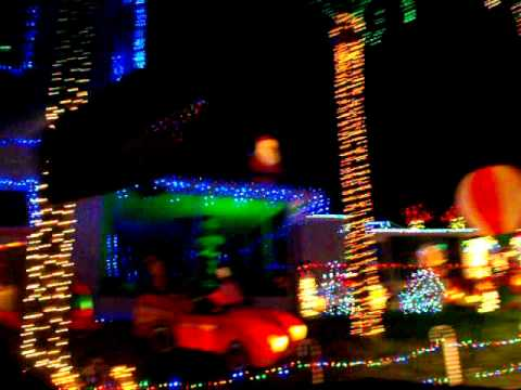 twi light christmas light display holly hill daytona beach florida