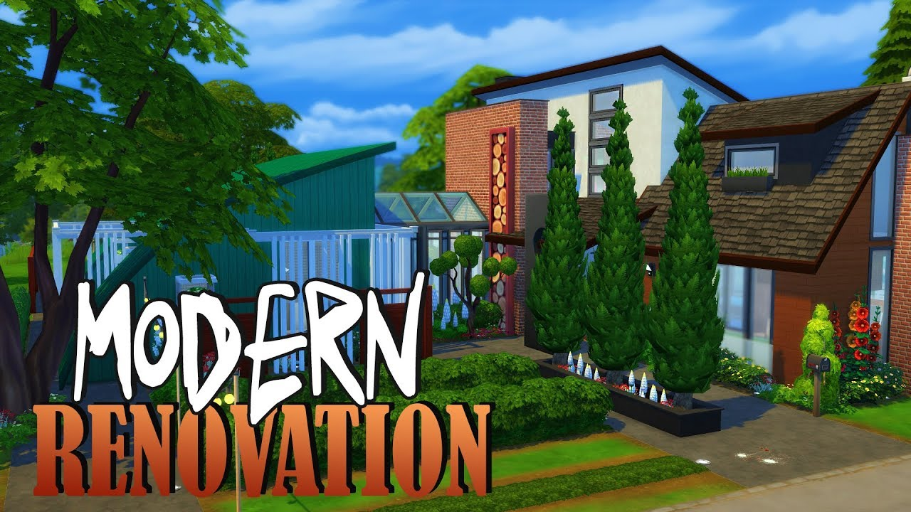 Modern renovation sims 4 house building youtube for How to get your house renovated for free
