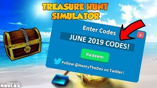 12 TRABAJANDO ROBLOX TREASURE HUNT SIMULATOR CODES! JUNIO 2019