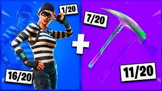 🔥 I NOTE YOUR 20 TRYHARD SKIN COMBOS ON FORTNITE! v11