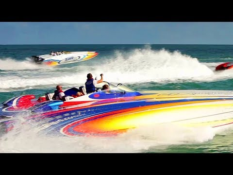FPC KEY WEST POKER RUN! / Powerboats Bright and LOUD